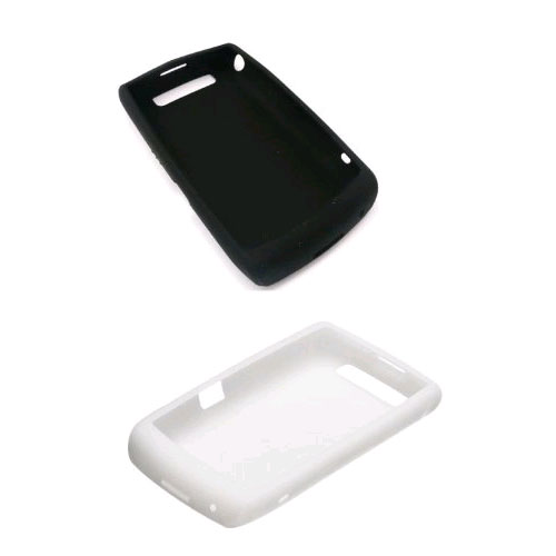 BlackBerry Silicon Gel Case for BlackBerry Bold 9700 - (White & Black)