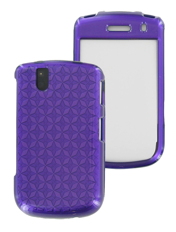 OEM Verizon Snap-On Case for BlackBerry Bold 9650, Tour 9630 (Pattern Purple) (Bulk Packaging)