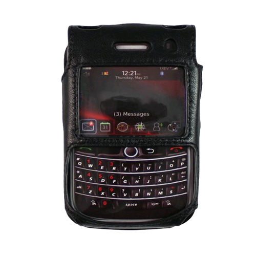 Verizon Leather Case for Blackberry Bold 9650/Tour 9630 (Black) - RIMTOURCAS (Bulk Packaging)