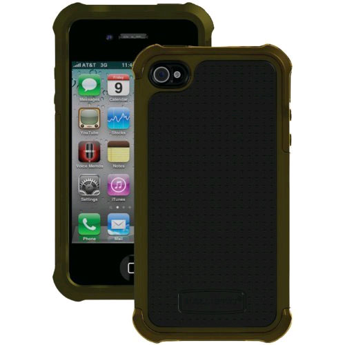Ballistic Shell Gel Maxx Case for Apple iPhone 4/4S - Black/Olive Green