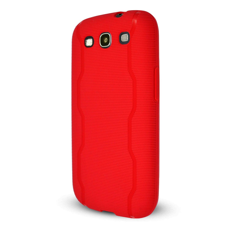 Technocel Textured Slider Skin Case Cover for Samsung Galaxy S3 (Red) - SAL710SSTRD-Z
