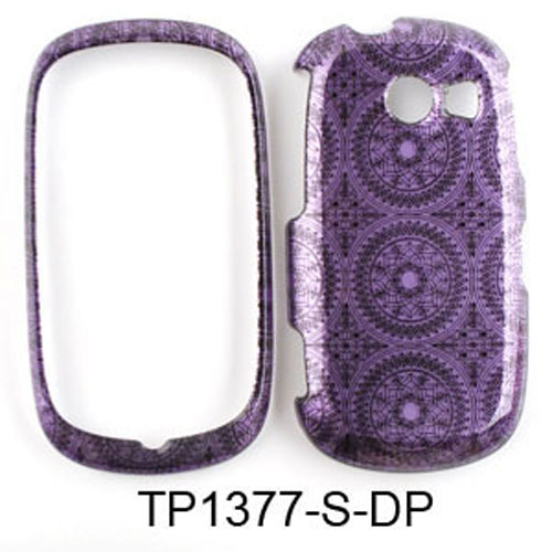 Unlimited Cellular Snap-On Case for Samsung Flight II A927 (Trans. Design, Dark Purple Circular Patterns)