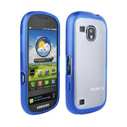 OEM Verizon Samsung Continuum Galaxy S SCH-i400 Plastic Frosted Case, TPU Grip (Blue) (Bulk Packaging)