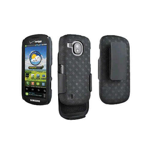 OEM Verizon Samsung Continuum Galaxy S SCH-i400 Shell/Holster Combo (Black) (Bulk Packaging)