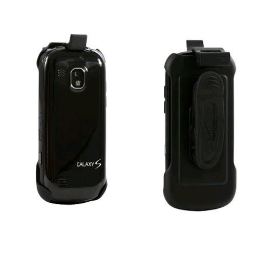 Verizon Rubberized Holster for Samsung Continuum i400 - Black (Bulk Packaging)