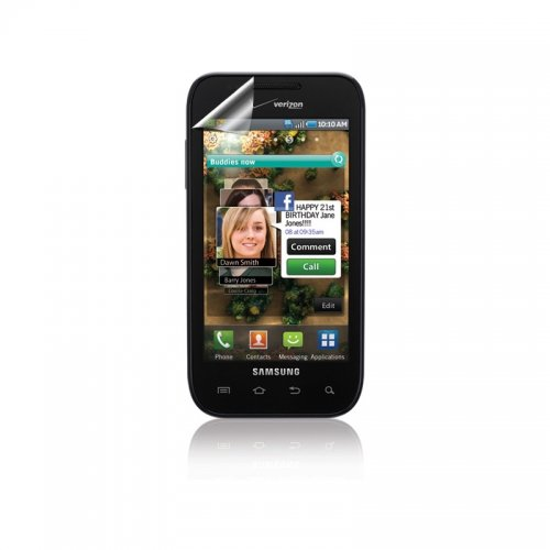 Verizon Samsung Fascinate SCH-i500 Anti-Glare Screen Protectors (Clear, 3-Pack)