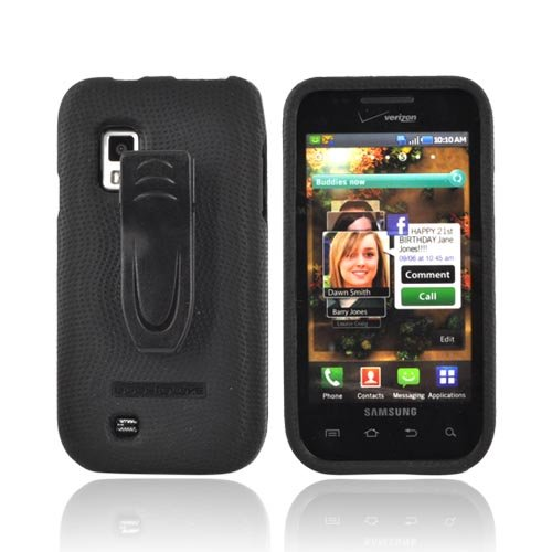 Body Glove - Snap-On Case with Belt Clip for Samsung Fascinate i500 - Black
