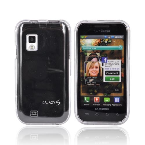 OEM Verizon Samsung i500 Fascinate (Galaxy S) Snap On Case - Clear (Bulk Packaging)