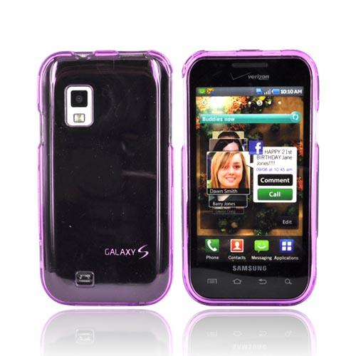OEM Verizon Samsung i500 Fascinate (Galaxy S) Snap On Case - Purple (Bulk Packaging)