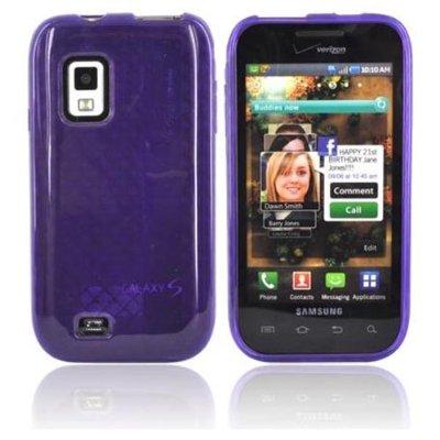 OEM Verizon High Gloss Silicone Case for Samsung Fascinate SCH-I500 (Purple) (Bulk Packaging)