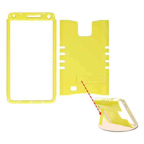 Cell Armor - Rocker Series Snap-On Protector Case for Samsung Galaxy Note 4 - Pearl Yellow