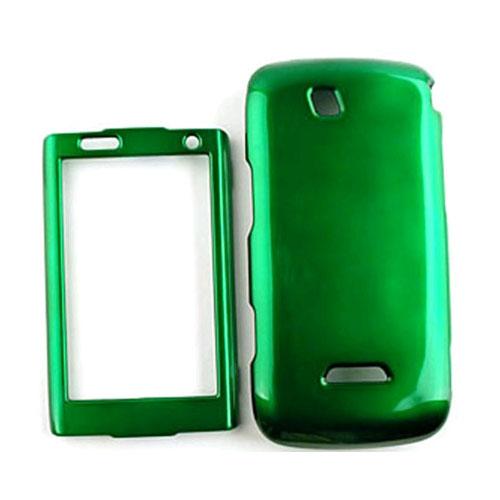 Cell Armor Shiny Hard Case Cover for Samsung SideKick 4G - Honey Dark Green
