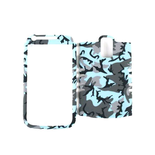 Unlimited Cellular Rocker Snap-On Case for Samsung T989 - Random Shapes on Light Blue