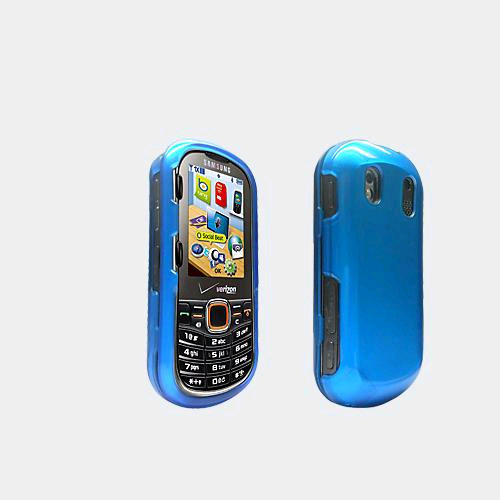 Verizon Soft Touch Snap On Cover for Samsung IntensityII - Blue