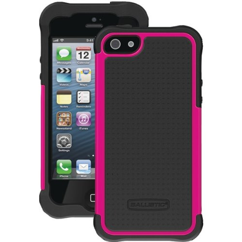 Ballistic- Shell Gel Case for Apple iPhone 5/5s - Black/Pink