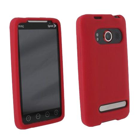 HTC EVO 3G Textured Silicone Case - Red
