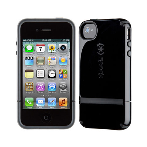 Speck CandyShell Flip Case for Apple iPhone 4 / 4S (Black/Gray)