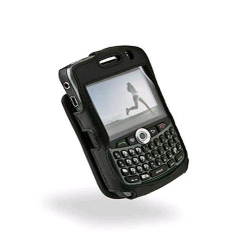 Sydney Harbour Lambskin Leather Case for BlackBerry Curve 8300/ 8310/ 8320/ 8330 - Black