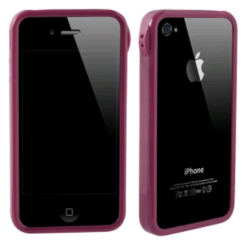 TPU Bumper for Apple iPhone 4S/4 - Dark Pink