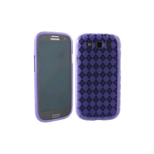 WireX TPU Case with Argyle Texture for Samsung Galaxy S III (Purple)