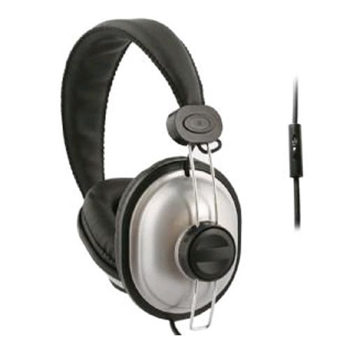 UMA - DJ Style Headphones w/Handsfree - Silver