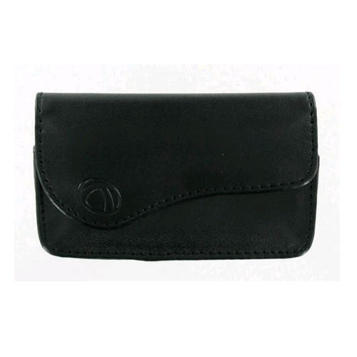 Technocel Universal Small Horizontal Leather Pouch with Magnetic Closure - Black