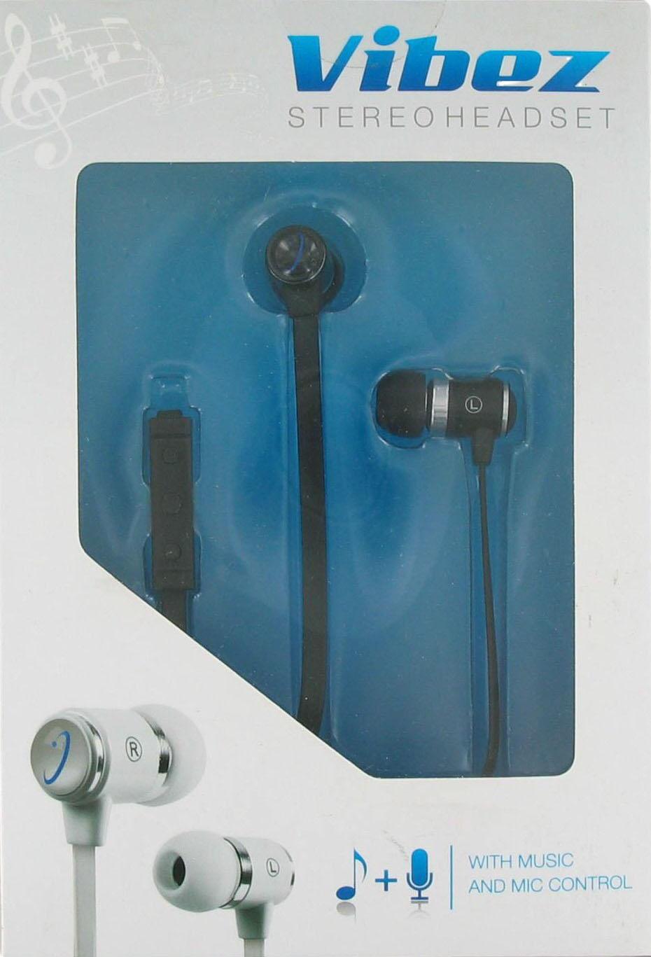 Wireless One Vibez Corded Stereo Headset - Black