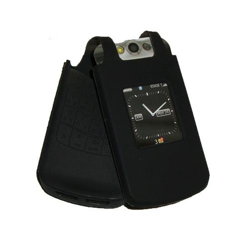 OEM BlackBerry Silicone Skin Case Pearl Flip 8220 8230 (Black)