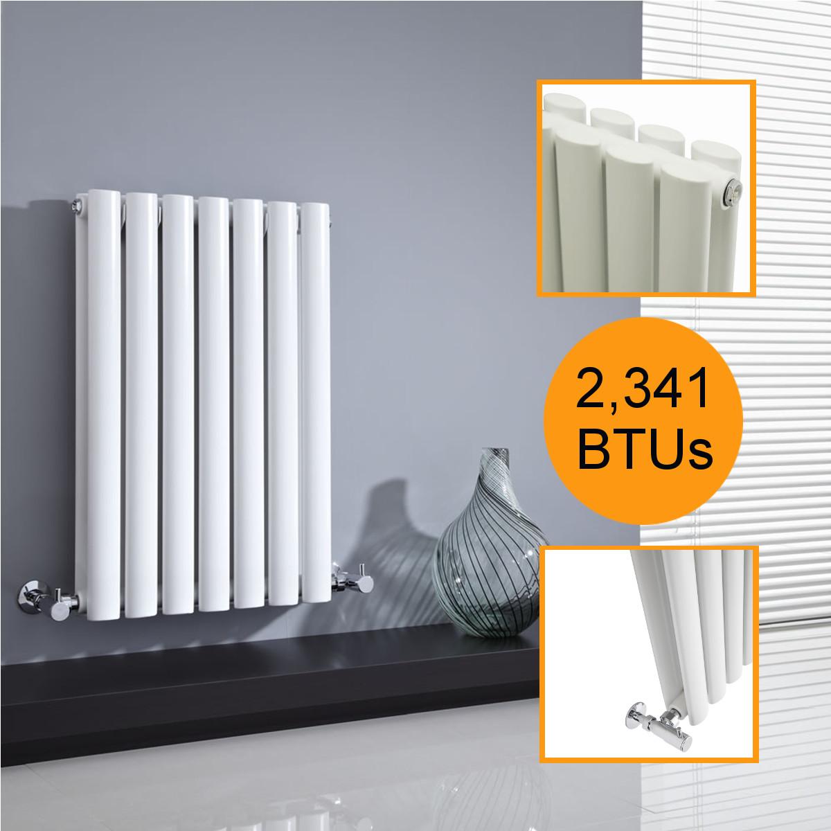 White Vertical Designer Radiators Upright Column