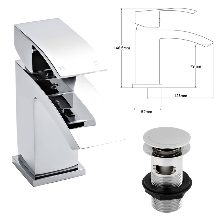 Bathroom Vanity Unit Sink Basin Storage Cabinets Wall