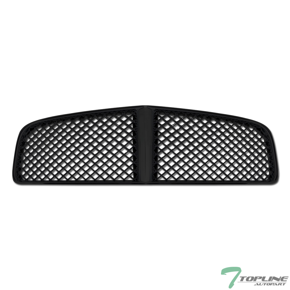black badgeless honeycomb sport mesh front grill grille. Black Bedroom Furniture Sets. Home Design Ideas