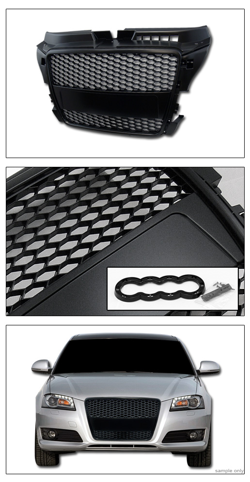 blk rs honeycomb mesh front hood bumper grill grille cover. Black Bedroom Furniture Sets. Home Design Ideas