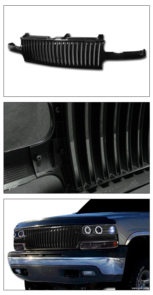 black vertical front grill grille guard 1p 1999 silverado 2000 tahoe suburban ebay