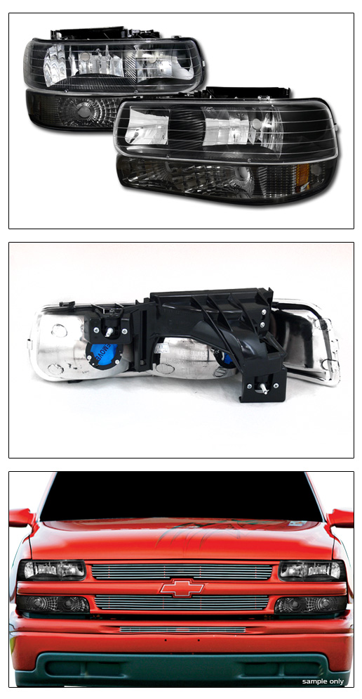 blk lights smoke bumper signal lamps dy for 1999 2002 chevy silverado ebay
