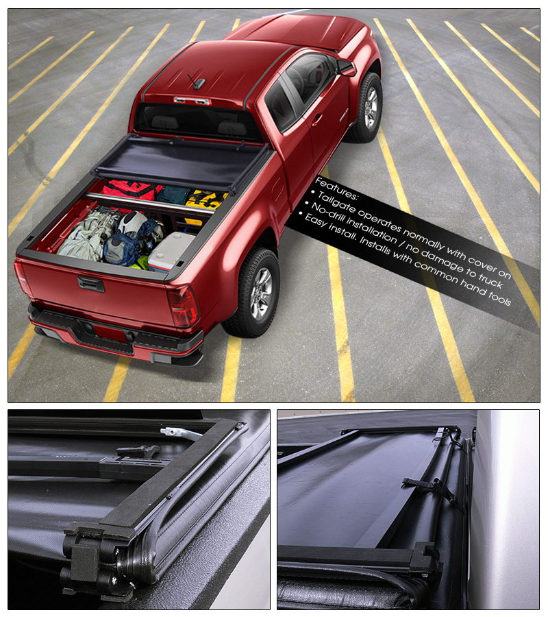 2015 Chevrolet Colorado Extended Cab Transmission: TRI-FOLD SOFT TONNEAU COVER 2015+ COLORADO/CANYON DOUBLE