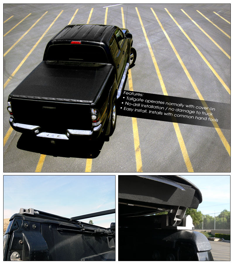 2015 Toyota Tacoma Access Cab Transmission: LOCK ROLL SOFT TONNEAU COVER 2005-2015 TACOMA REG/ACCESS