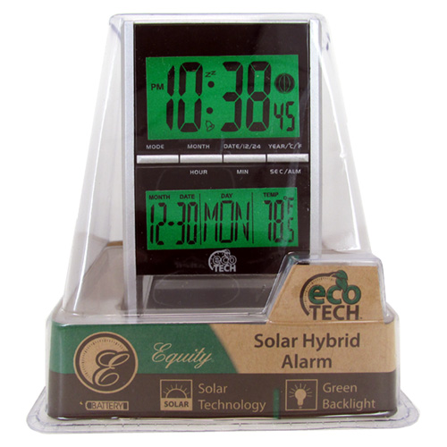 Eco Tech Equity Solar Hybrid Alarm Clock