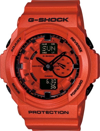 Casio Men Casio GA150A-4 G-Shock G-Shock Orange Plastic Resin Case and Bracelet Orange at Sears.com