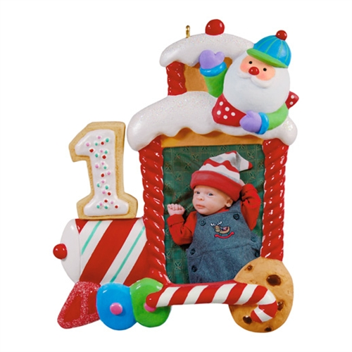 "Hallmark 2012 ""My First Christmas"" Photo Holder Ornament at Sears.com"