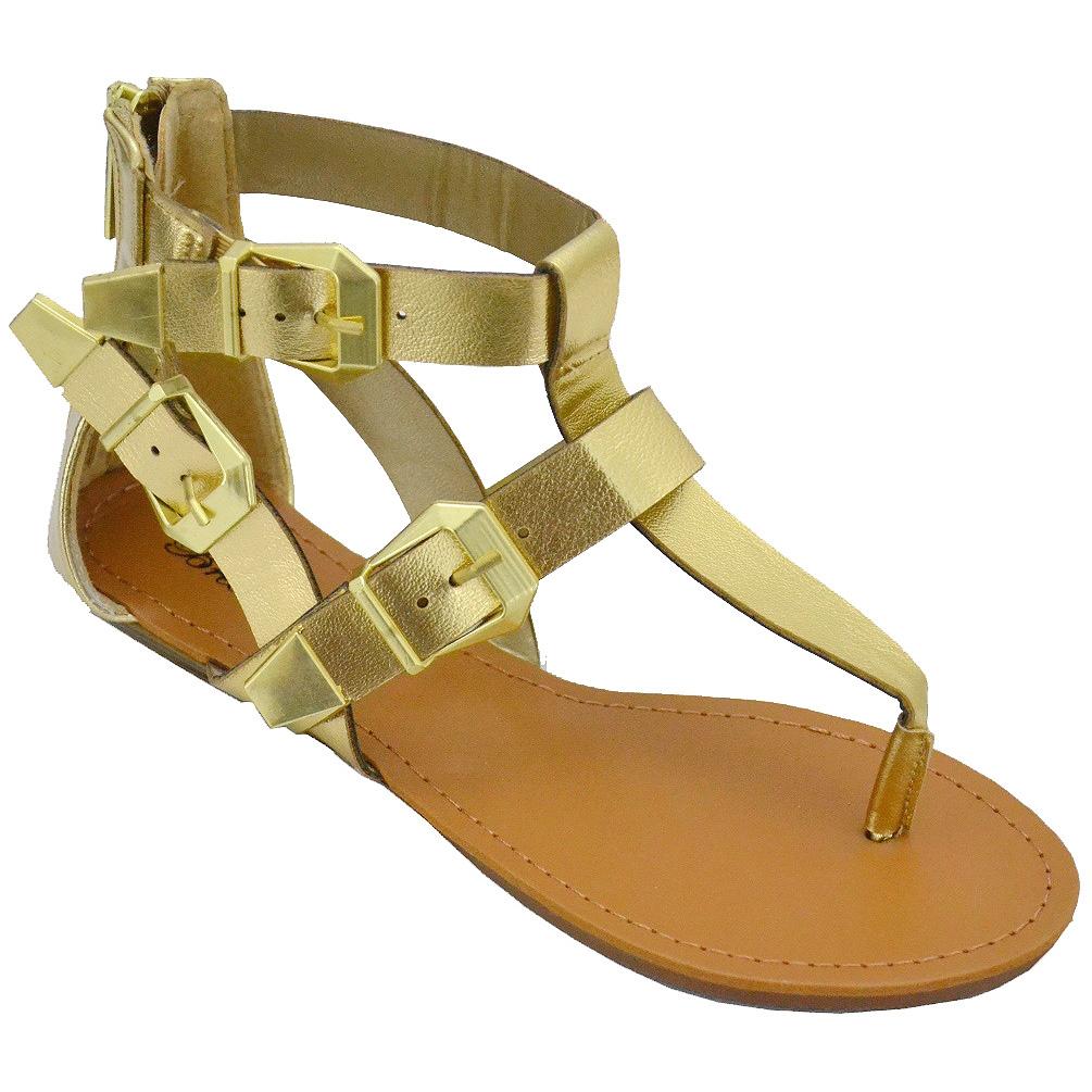 Breckelle Women's Vivian-33 Gold Flat Sandals at Sears.com