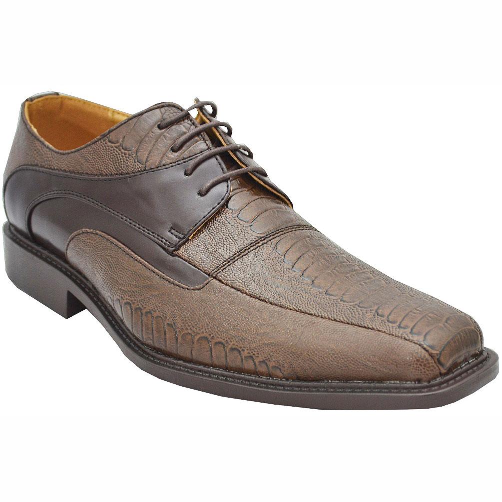 Antonio Cerrelli Men's 6183Wide Ch Brown Dress Shoes