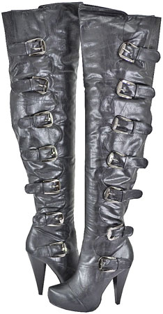 Cleopatra Women's Eva-18 Black Over The Knee Boots at Sears.com