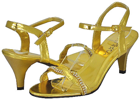 Lady Godiva Women's Dassy-3 Gold Dress Sandals at Sears.com