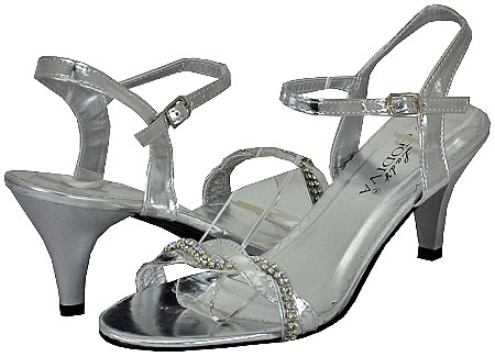 Lady Godiva Women's Dassy-3 Silver Dress Sandals at Sears.com