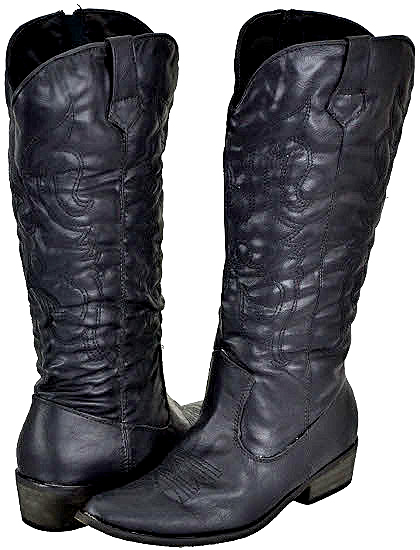 Yoki Women's Cowboy Black Cowboy Boots at Sears.com