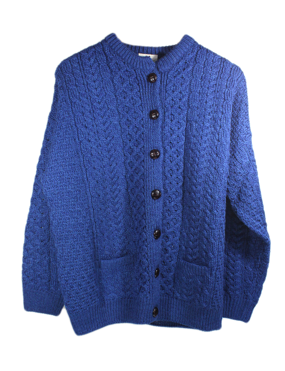 Women'S Merino Wool Irish Aran Knit Long Cardigan Sweater 108