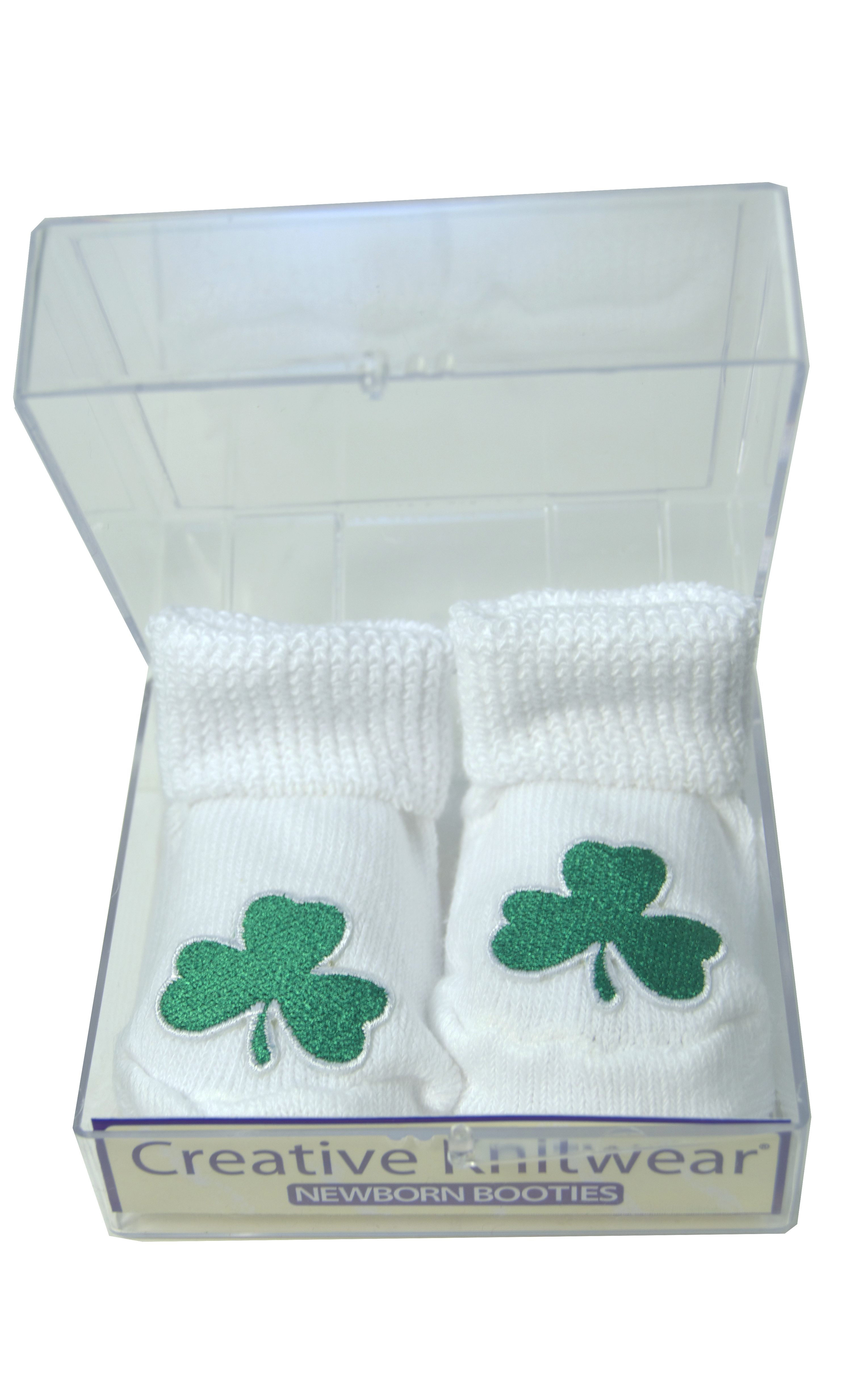 Irish Baby Booties Irish Symbols Gift Boxed