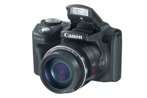 Canon PowerShot SX500 IS ~ 16MP Camera, Black at Sears.com
