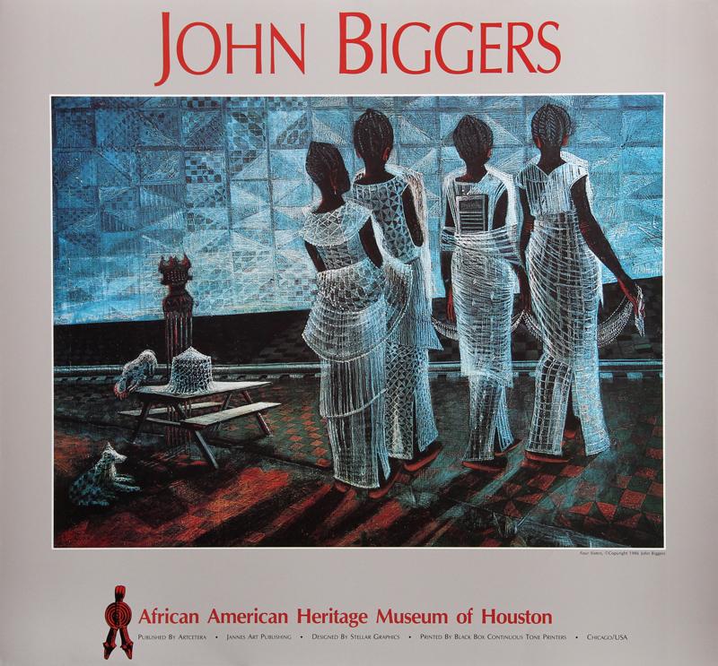 John Biggers John Biggers, Four Sisters, African American Heritage Museum, Poster