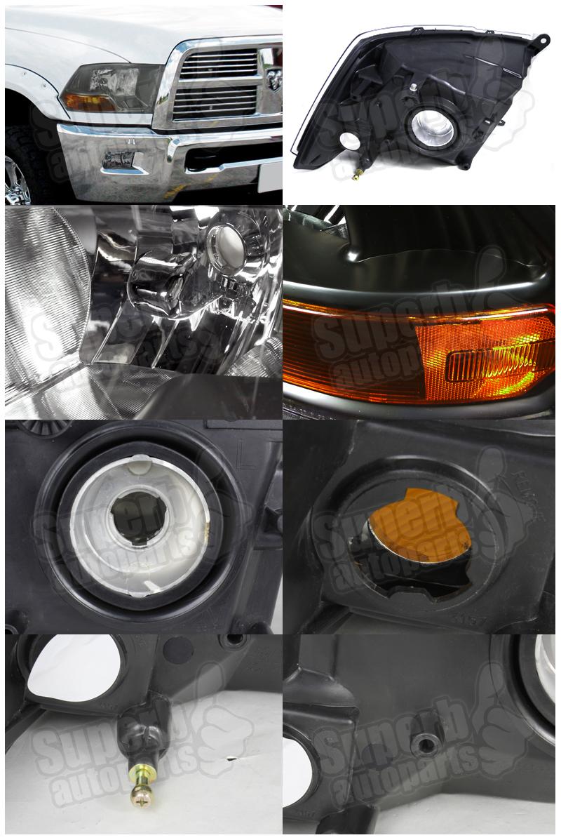 2009 2012 dodge ram 1500 2500 3500 euro headlight head. Black Bedroom Furniture Sets. Home Design Ideas